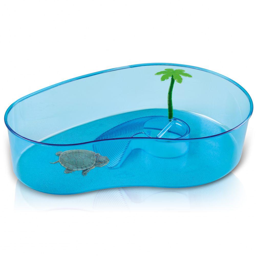 Бассейн для черепах IMAC Virgola пластиковый фигурный 40х27х9см
