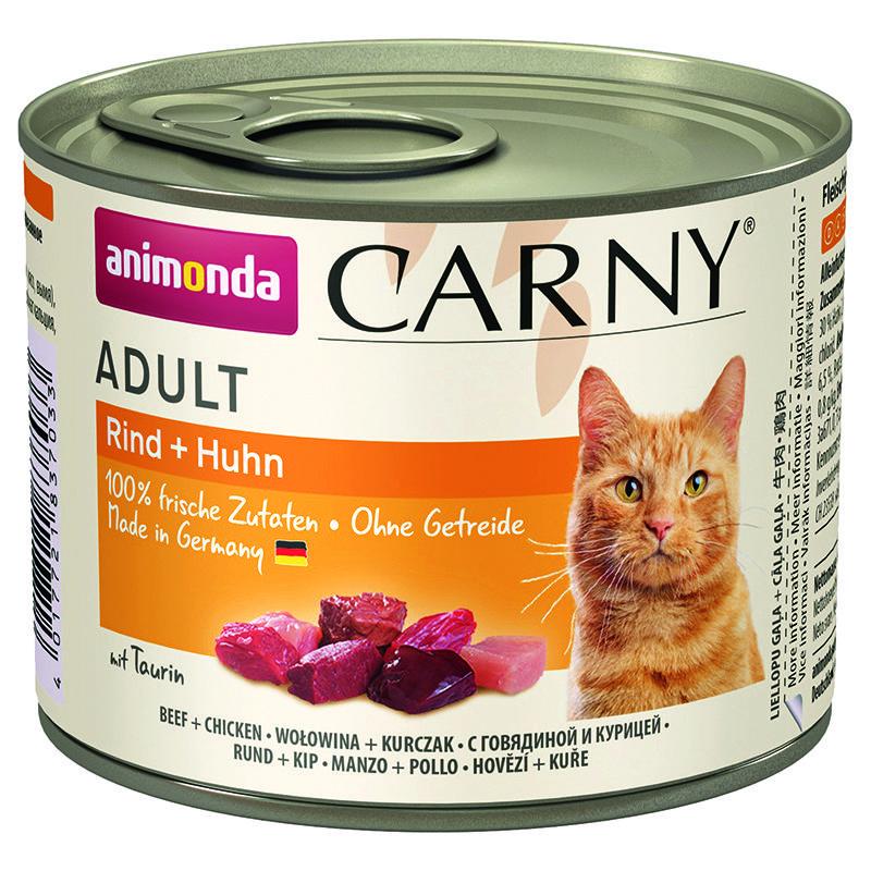 Корм для кошек Animonda Carny Adult говядина, курица конс. 200г корм для кошек animonda carny говядина ягненок конс 200г