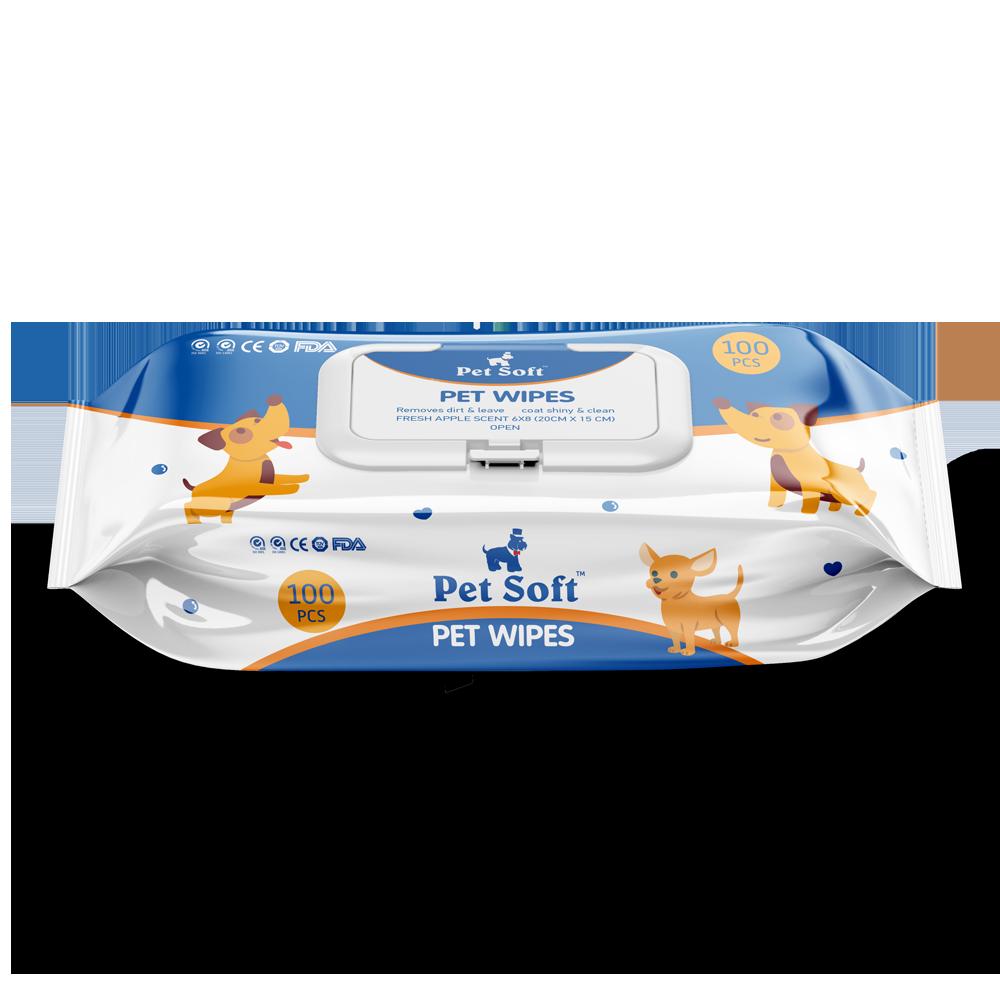 Влажные салфетки Dono PET SOFT Wipes для животных 100шт салфетки brush baby dental wipes brb042