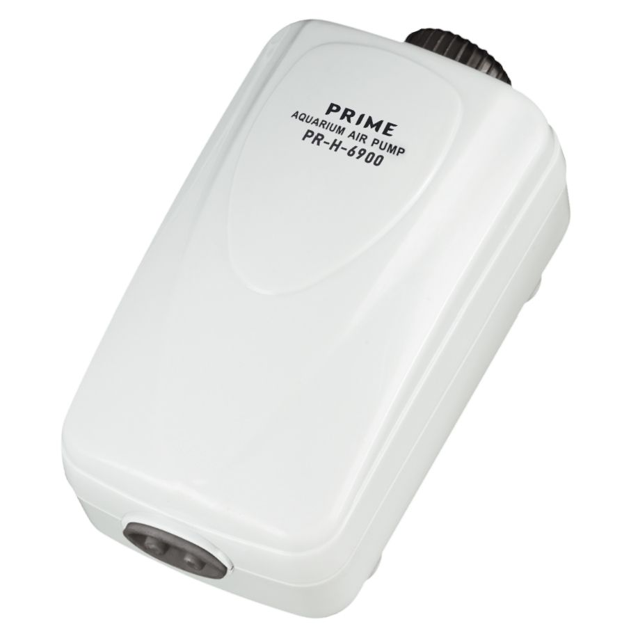Компрессор PRIME двухканальный регулируемый, 2,5Вт, 2*2л/мин, глубина аквариума до 80см, бесшумный