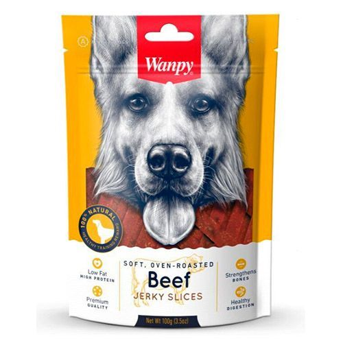 Лакомство для собак WANPY Dog соломка из вяленой говядины 100г