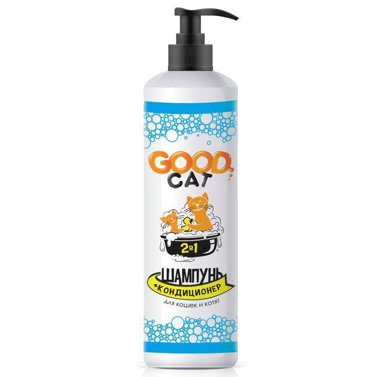 Шампунь-кондиционер для кошек и котят GOOD CAT&DOG 2в1 250мл