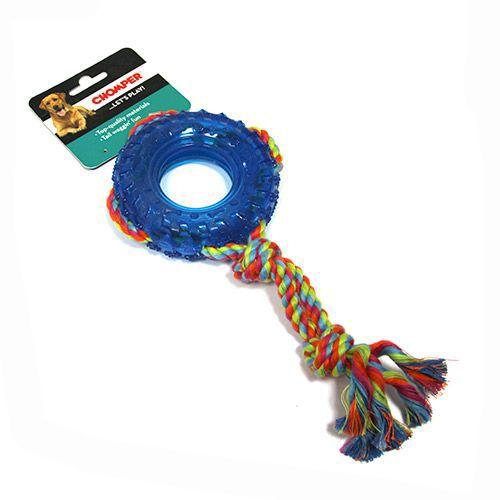 Игрушка для собак CHOMPER Колесо на канате игрушка для собак chomper шарики на канате