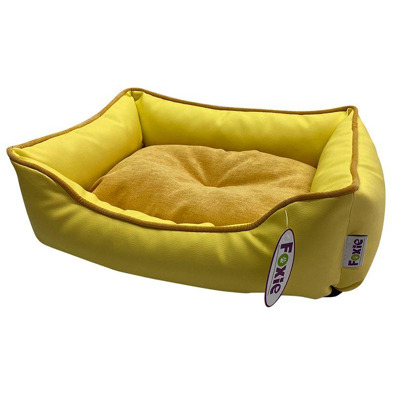 Фото - Лежак для животных Foxie Leather 70х60х23см желтый лежак для животных foxie leather 70х60х23см красный