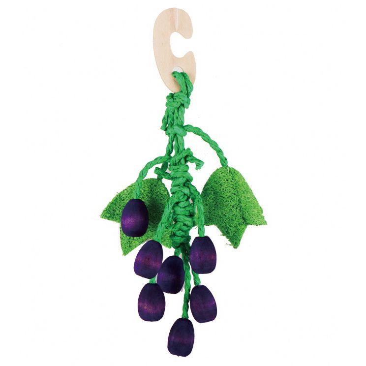 Игрушка для грызунов FAUNA international Виноград 22см дерево, люффа