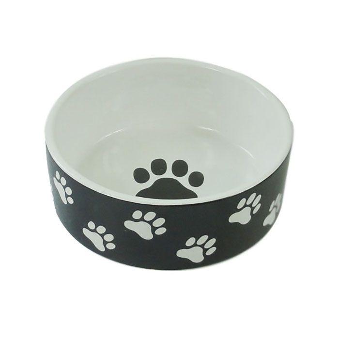 Миска для животных Foxie Paws черная керамическая 13х5,5 см 420мл миска для животных foxie dog on feet черная керамическая 17х14 5х10 5см 200мл