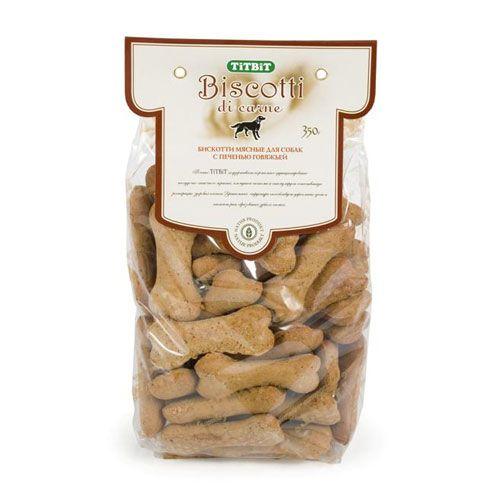 Лакомство для собак TITBIT Печенье Бискотти с печенью говяжьей паштет hame с говяжьей печенью 117 г