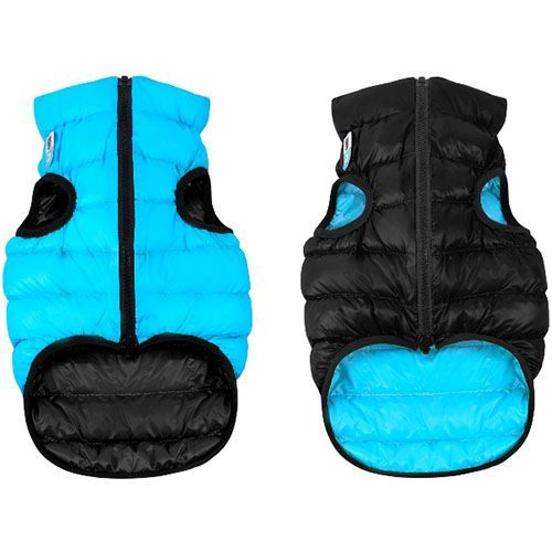 Куртка для собак AiryVest двухсторонняя размер М 45 черно-голубая роттер м роттер м черно белое рэй ки