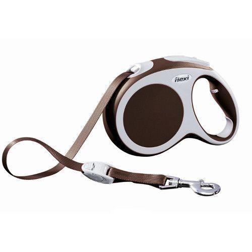 Рулетка для собак Flexi Vario Compact L (до 60кг) лента 5м коричневая flexi flexi мультибокс vario s m l синий
