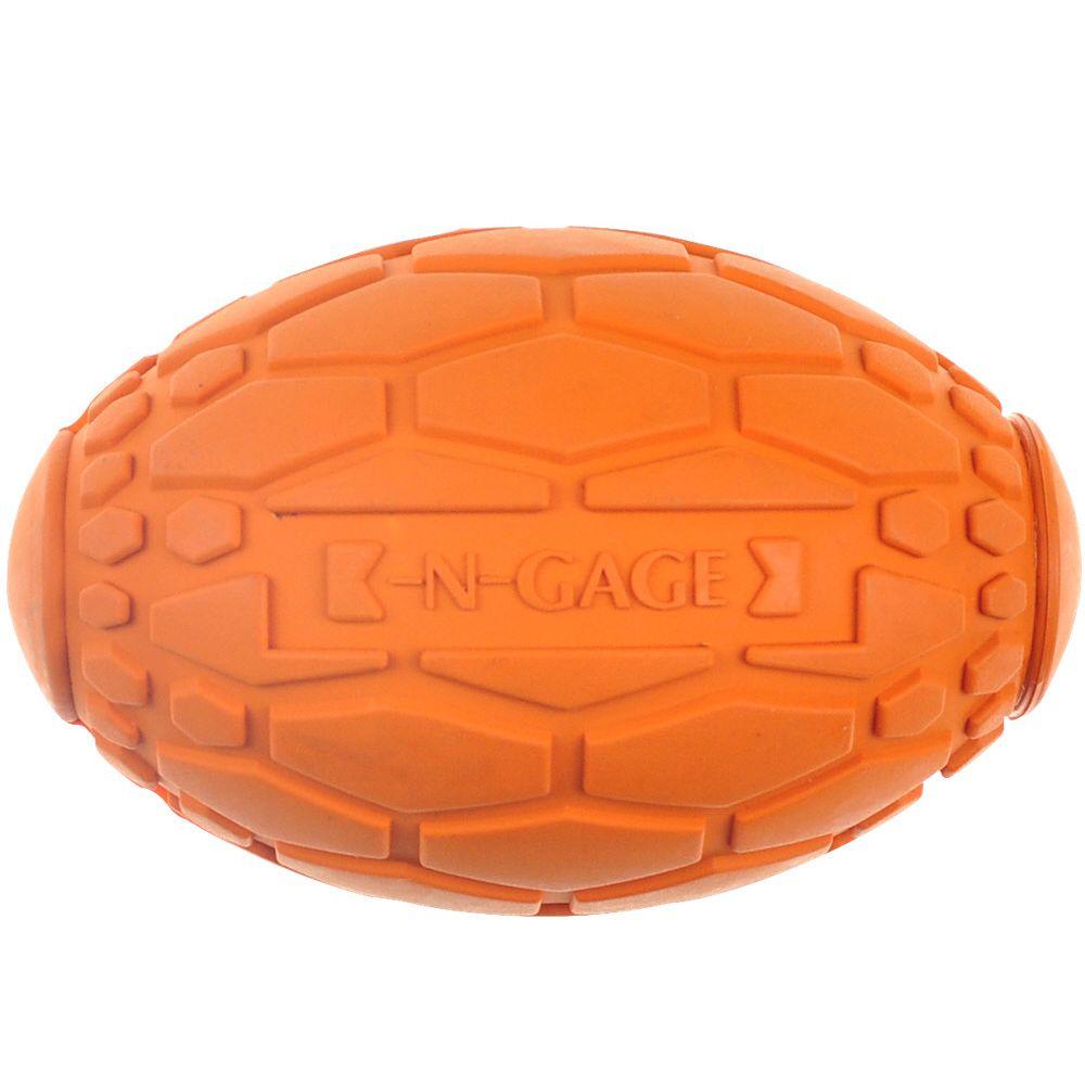 Игрушка для собак CHOMPER N-Gage Мяч регби суперпрочный из резины 9см