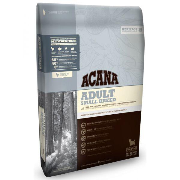 Корм для собак ACANA Adult Small Breed Heritage для мелких пород цыпленок сух. 2кг цена и фото