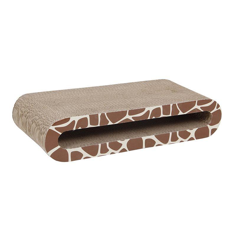 Когтеточка для кошек MAJOR Лежанка Жираф картон 45х21,5х9,5см