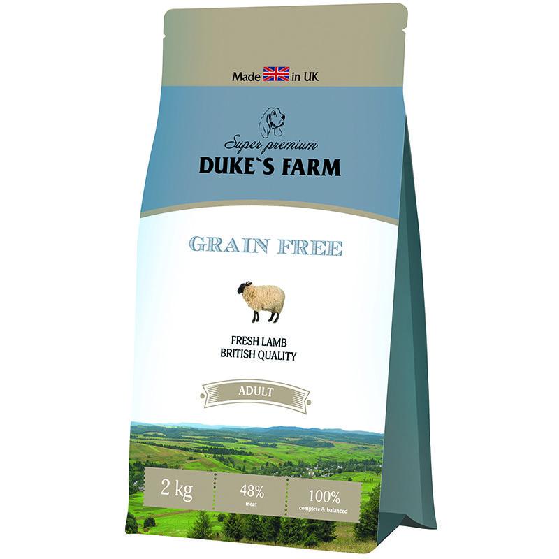 Корм для собак DUKE'S FARM беззерновой, ягненок сух. 2кг