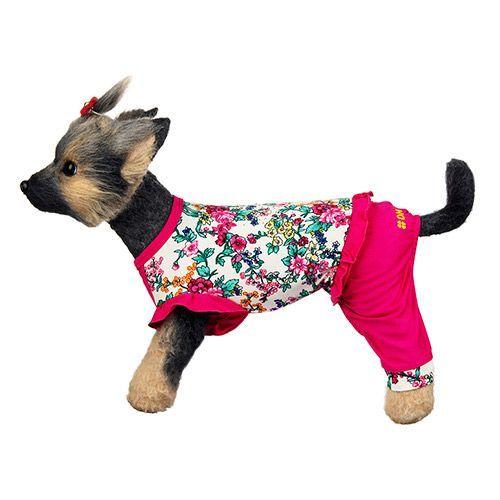 Комбинезон для собак Dogmoda Оливия трикотажный размер 4 32см