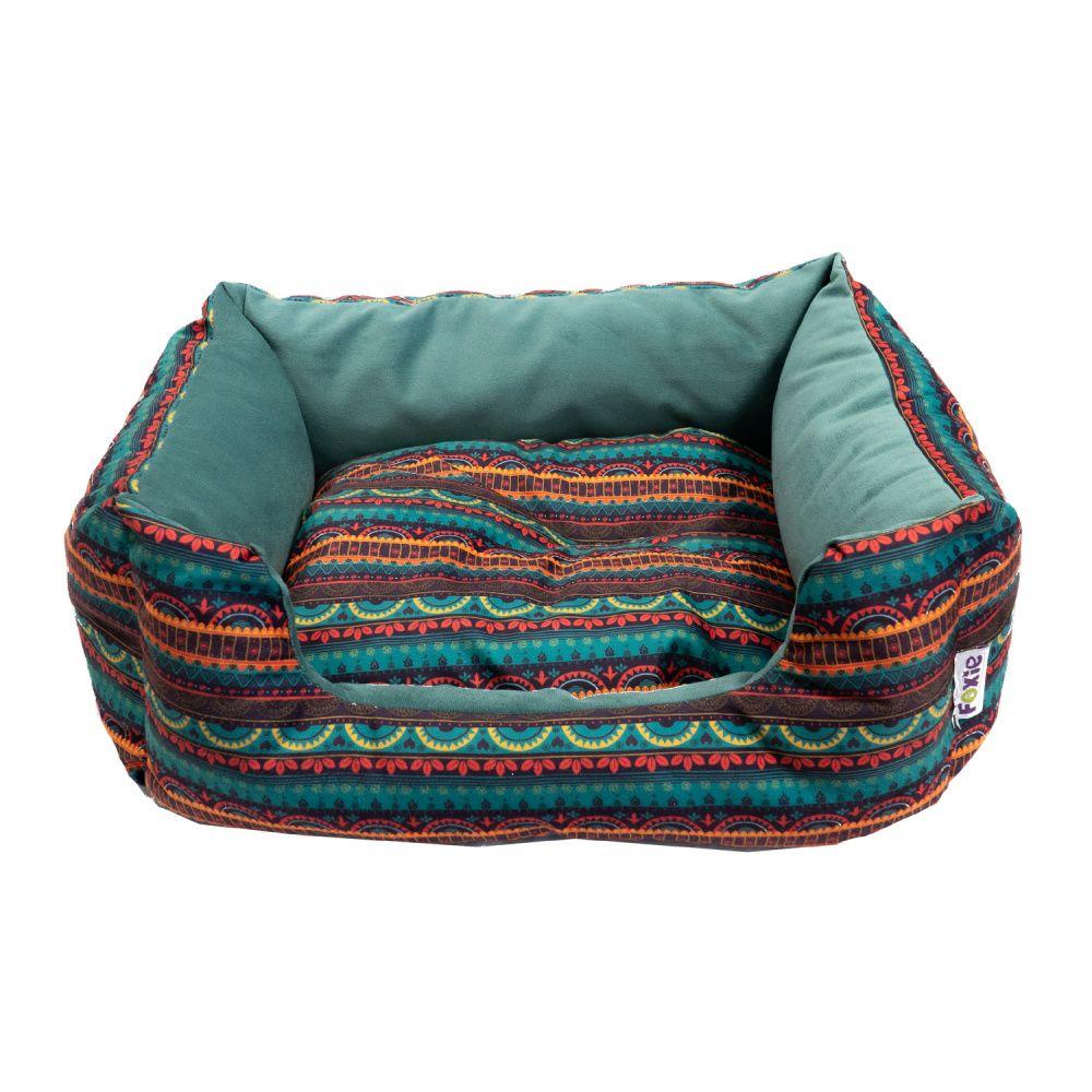 Лежак для животных Foxie Ethnics 52x41х10см зеленый