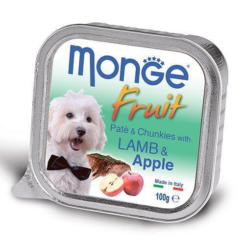 Корм для собак Monge Fruit ягненок, яблоко конс. 100г
