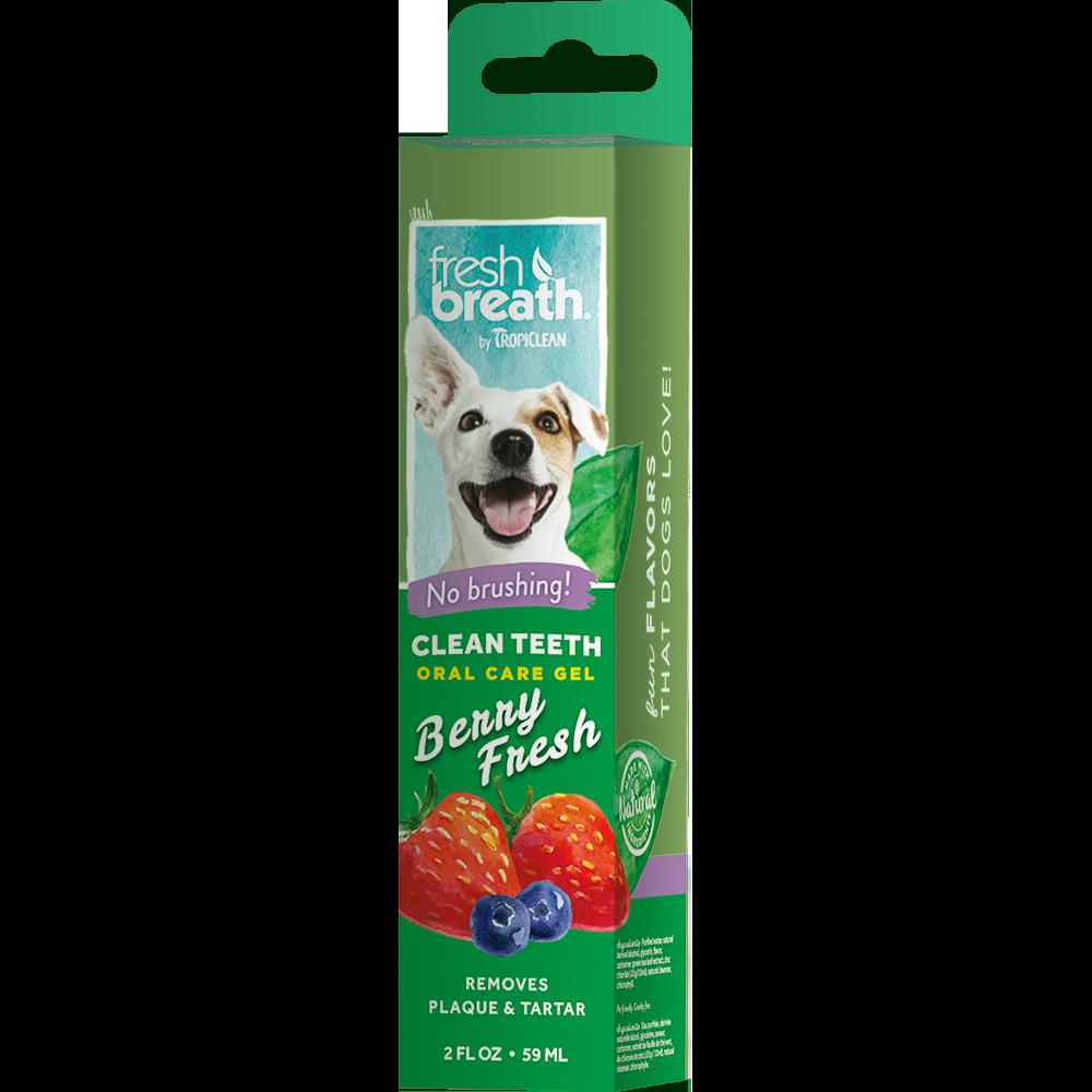 Гель для чистки зубов TROPICLEAN ягодный для собак, 59 мл tropiclean fresh breath gel vanilla mint гель для собак для чистки зубов ваниль и мята 59 мл