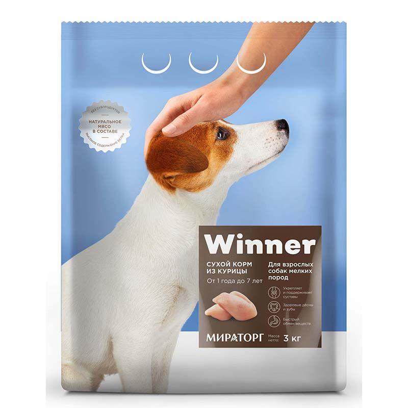 Корм для собак Winner для мелких пород курица сух. 3кг фото