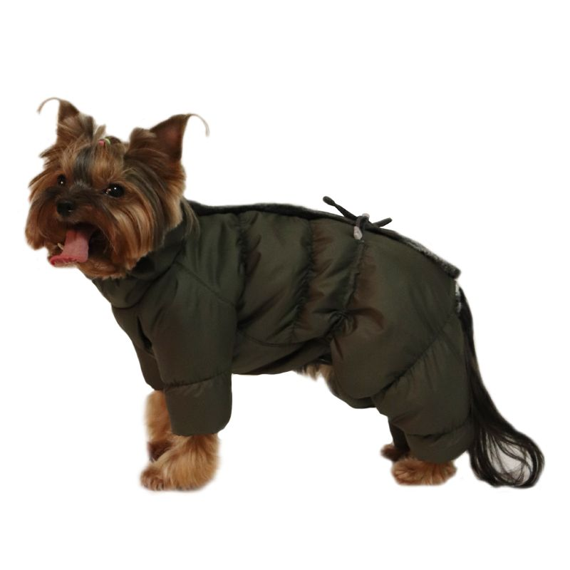 Комбинезон для собак YORIKI Оливка зим. S 20 см комбинезон для собак yoriki космонавт унисекс s 20 см