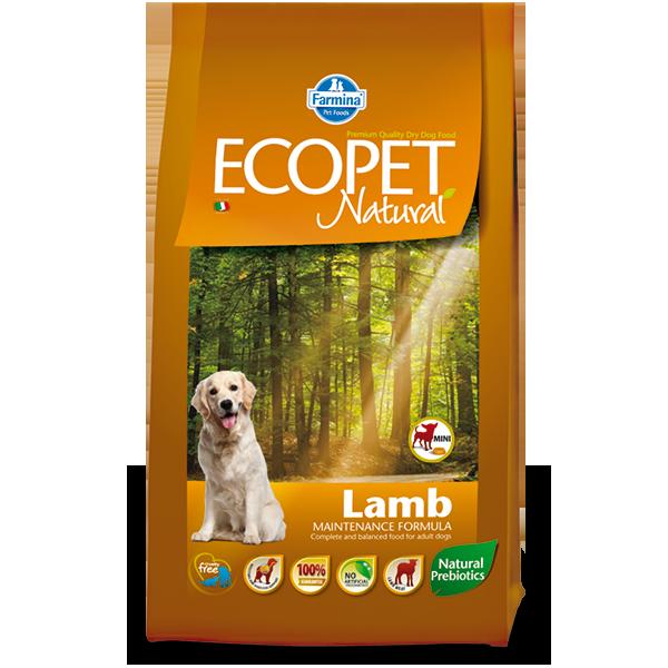 Корм для собак Farmina Ecopet Natural для мелких пород ягненок сух. 12кг корм для собак royal farm для супер мелких пород ягненок сух 500г