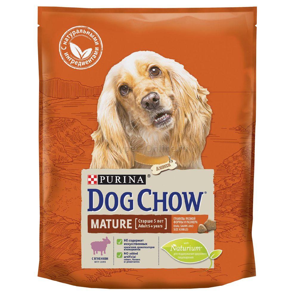 Корм для собак Dog Chow от 5 лет ягненок сух. 800г