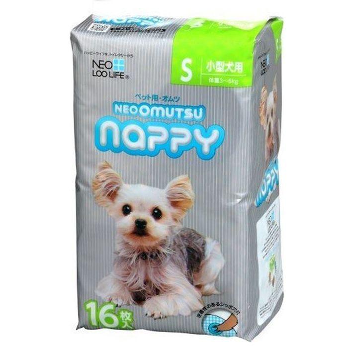 Подгузники для кошек и собак NEOOMUTSU размер S на вес 3-6кг 16шт недорого