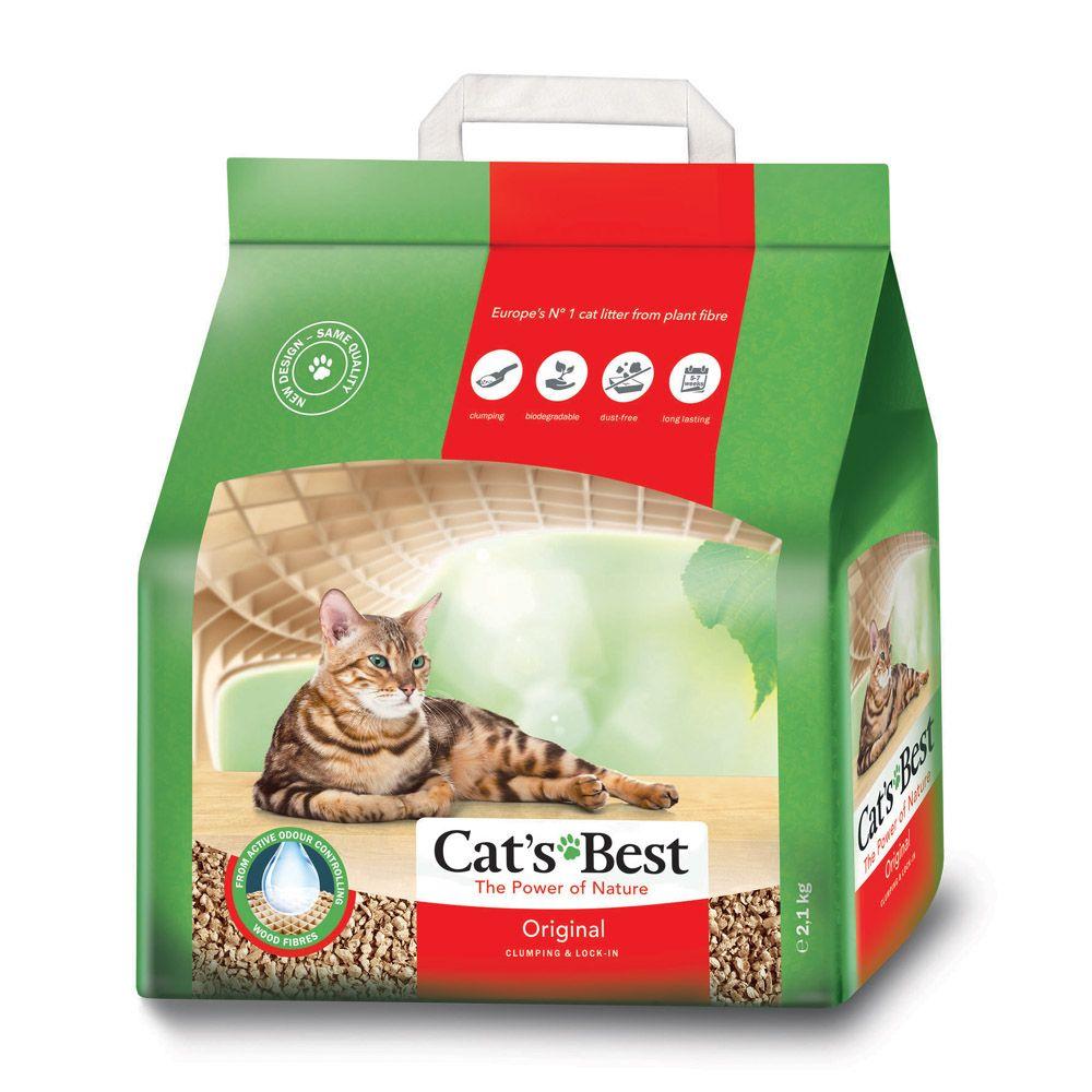 цена на Наполнитель для кошачьего туалета Cat's Best Original древесный комкующийся 5л
