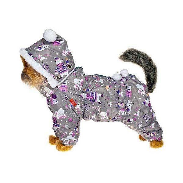 Комбинезон для собак HAPPY PUPPY Новогодняя сказка серый - 2 25 см