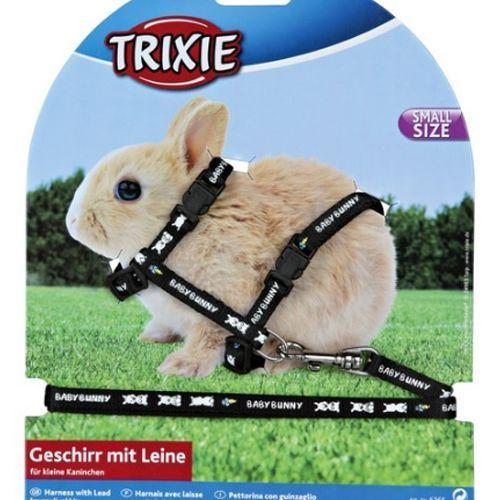 Шлейка для грызунов TRIXIE для крольчат 20-33см/8мм/1,25м нейлон с рисунком саломатина е ред про крольчат