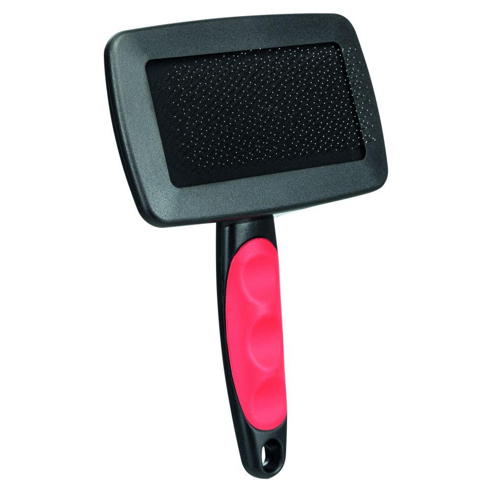 Щетка-пуходерка TRIXIE мягкая с пластиковой ручкой + расческа 19х12см цены онлайн