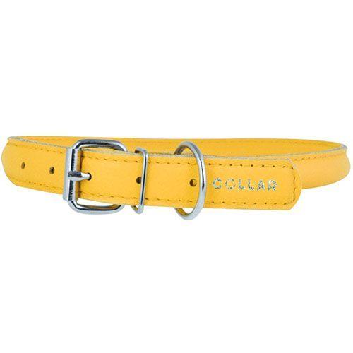 Ошейник для собак COLLAR Glamour круглый для длинношерстных собак 10мм 39-47см желтый