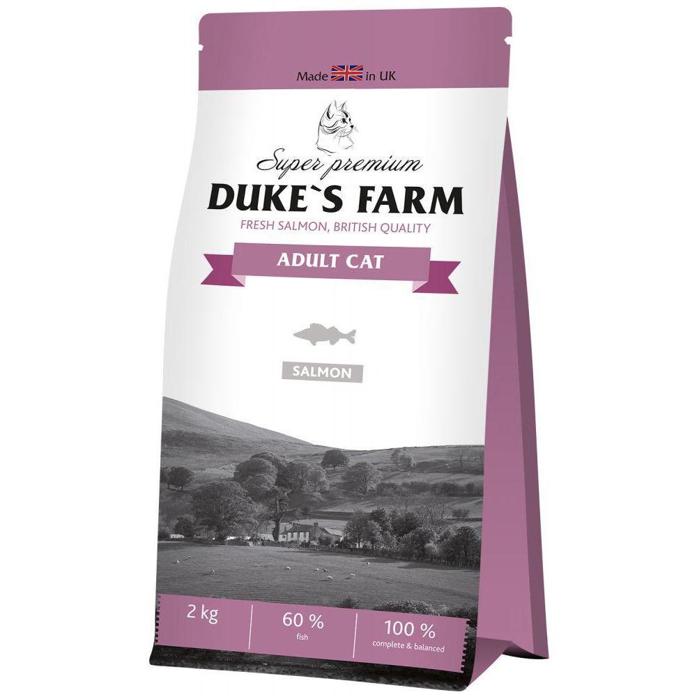 Корм для кошек DUKE'S FARM лосось сух. 2кг