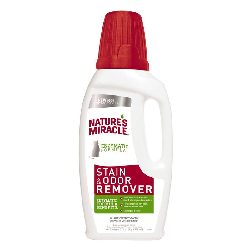 Уничтожитель пятен и запахов 8 IN 1 NATURES MIRACLE JFC S&O Remover для кошек универсальный 945мл 8in1 cat stain and odor exterminator nm jfc s