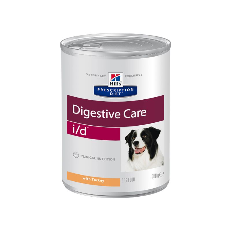 Корм для собак Hill\'s Prescription Diet Canine I/D при заб. ЖКТ, индейка конс. 360г