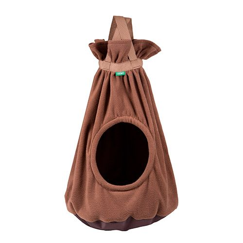 Домик для кошек TITBIT подвесной коричневый h 70см