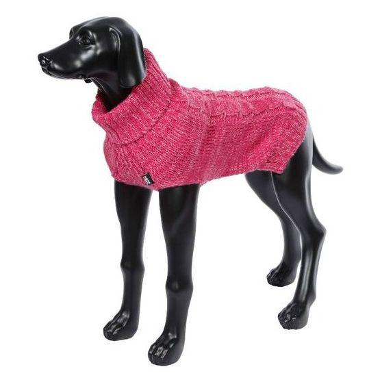 Свитер для собак RUKKA Melange Knitwear розовый размер XS 35см платье oodji ultra цвет красный белый 14001071 13 46148 4512s размер xs 42 170