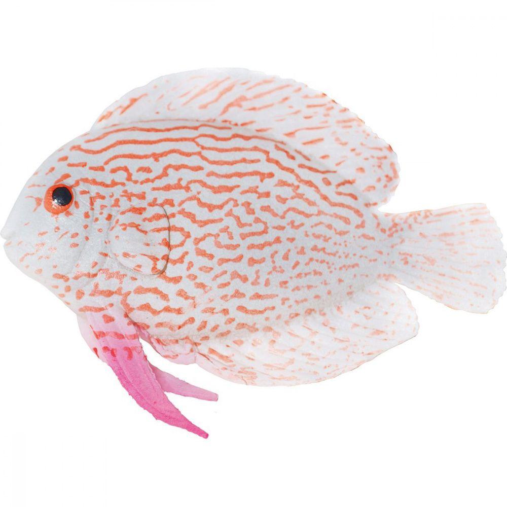 Декор для аквариумов JELLYFISH Рыба силиконовая Клоун мал. с неоновым эффектом 9,7х14х2,5см