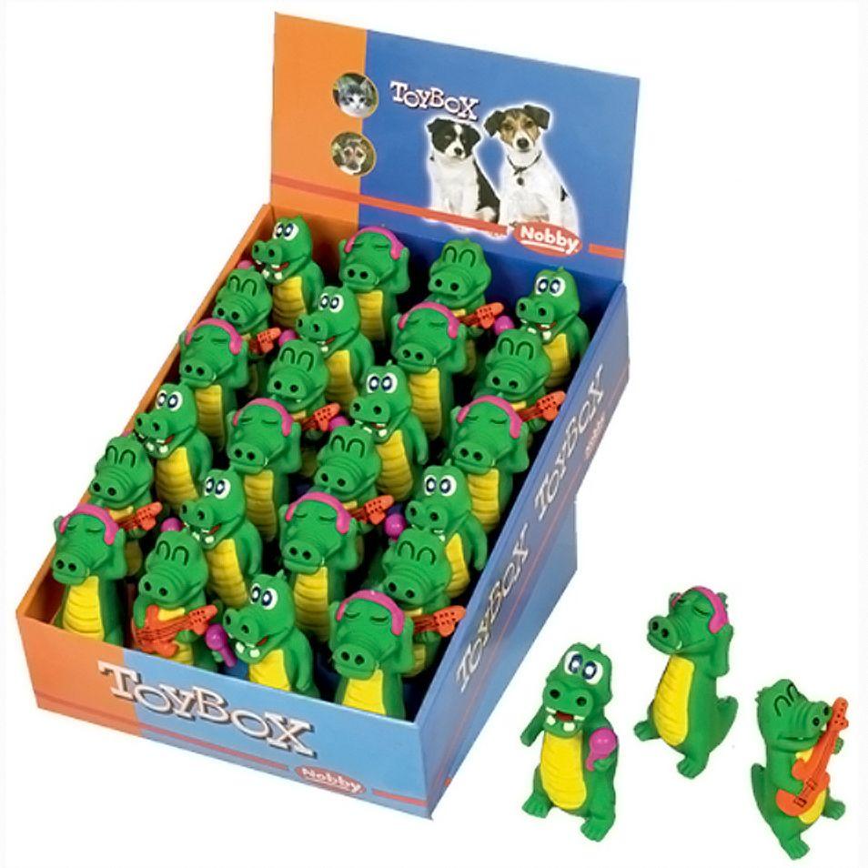 Игрушка для собак Nobby Крокодилы-музыканты 10,5см 1шт