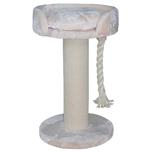 Когтеточка для кошек Foxie Столб с лежанкой и канатом 60х60х100см D=20см