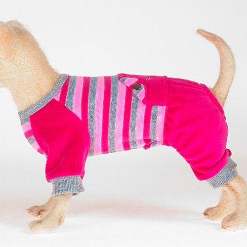 купить Костюм спортивный для собак HAPPY PUPPY Параллель розовый размер 4 по цене 825 рублей