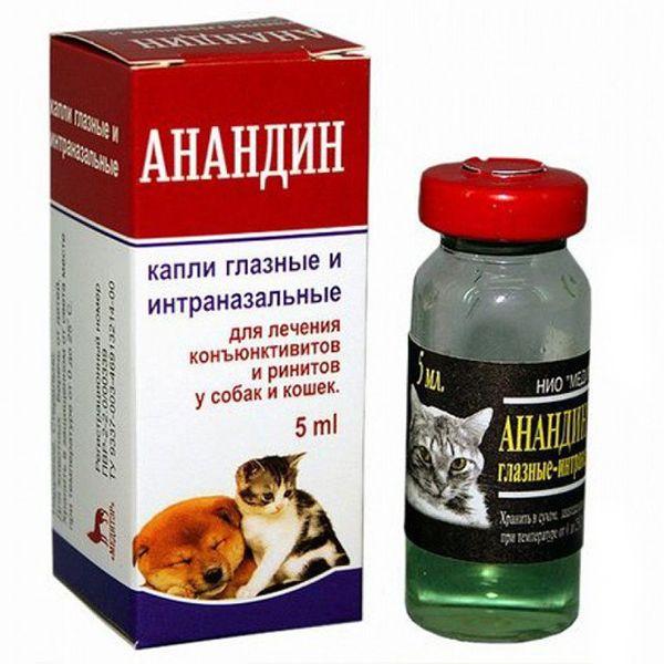 Капли глазные и интраназальные МЕДИТЭР АНАНДИН для кошек и собак 5мл