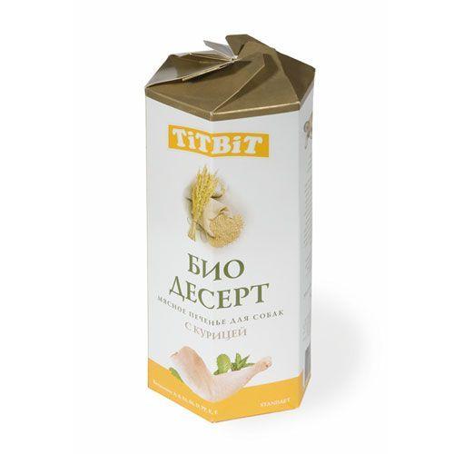 Лакомство для собак TITBIT Печенье с курицей cтандарт цена