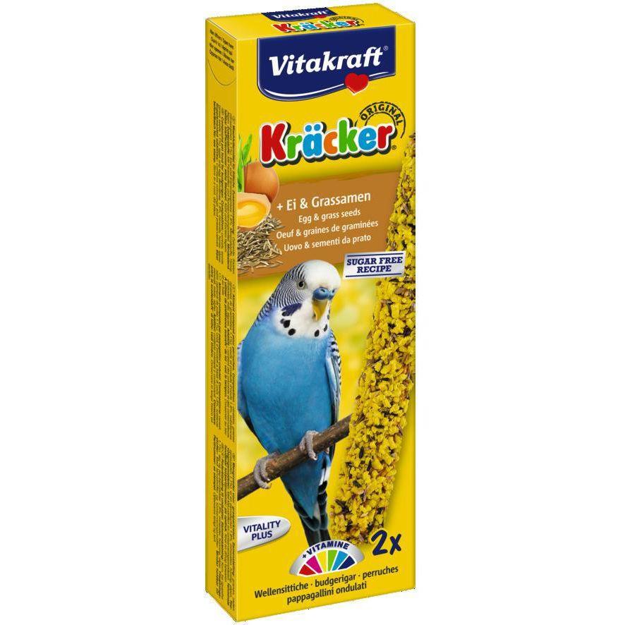 Лакомство для птиц VITAKRAFT Крекеры для молодых попугаев яичные (2шт.уп) лакомство для птиц vitakraft крекеры для волнистых попугаев медовые 2шт уп