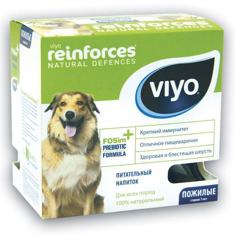 Пребиотический напиток VIYO Reinforces Dog Senior для пожилых собак 7х30мл