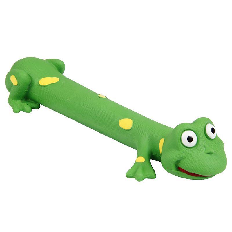 Игрушка для собак MAJOR Лягушка с пищалкой 8х29см латекс