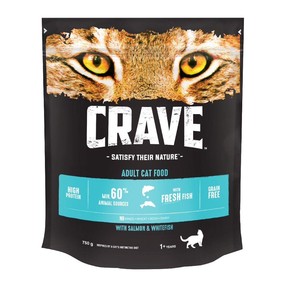 Корм для кошек Crave Лосось, рыба сух. 750г