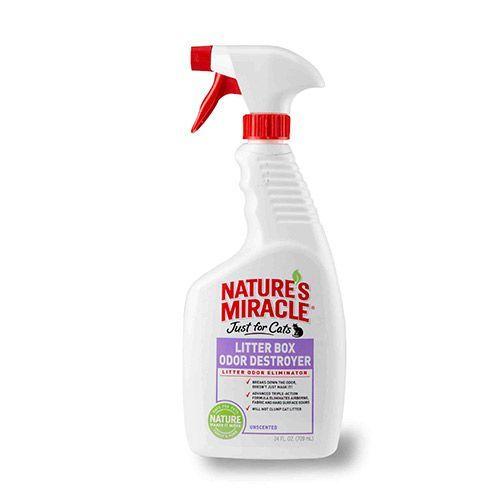 Средство NATURES MIRACLE уничтожающее запахи в кошачьих туалетах 709мл