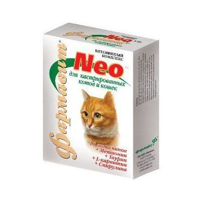 Витамины для кошек НПП ФАРМАКС ФАРМАВИТ NEO К-К для кастрированных и стерилизованных 60таб