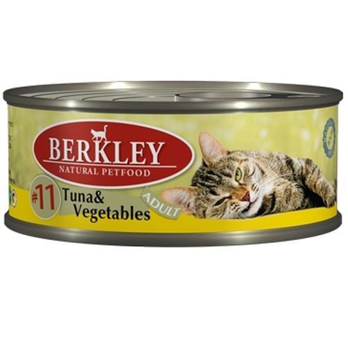 Корм для кошек BERKLEY №11 тунец, овощи конс. 100г