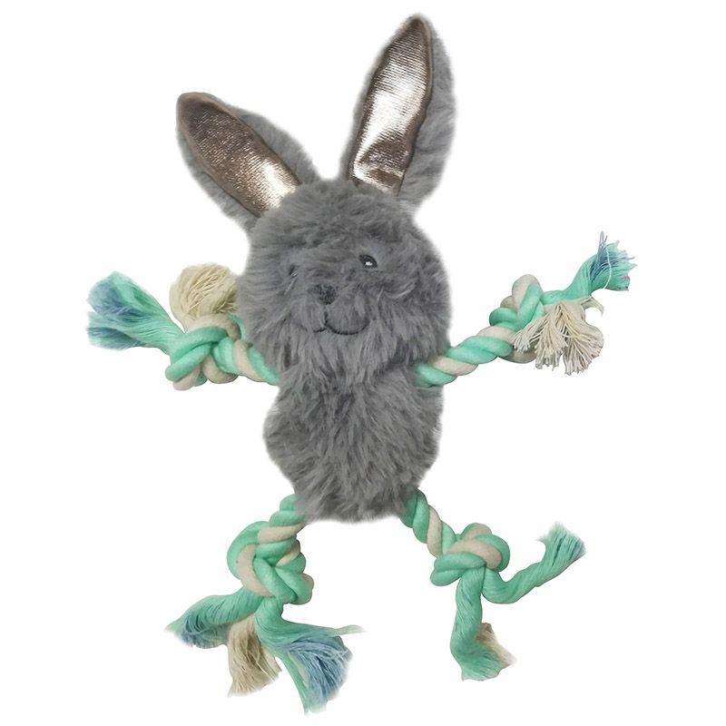 Игрушка для собак CHOMPER Enchanted Forest Лесные звери с лапами из каната и пищалкой плюш 18см игрушка для собак chomper тяни толкай восьмерка из каната